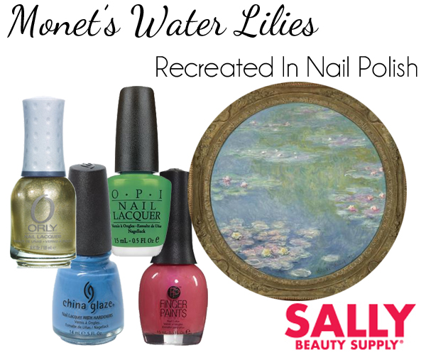 Sally Beauty Recreates Monet Water Lilies via @alllacqueredup