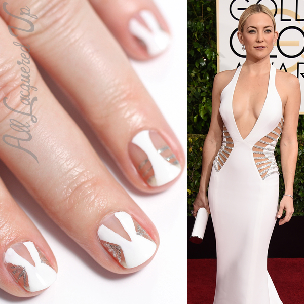 Versace Negative Space Nail Art via @alllacqueredup