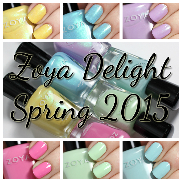 Zoya Delight Spring 2015 swatches via @alllacqueredup