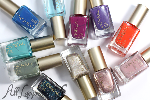Favorite L'Oreal Nail Polish Colors via @alllacqueredup