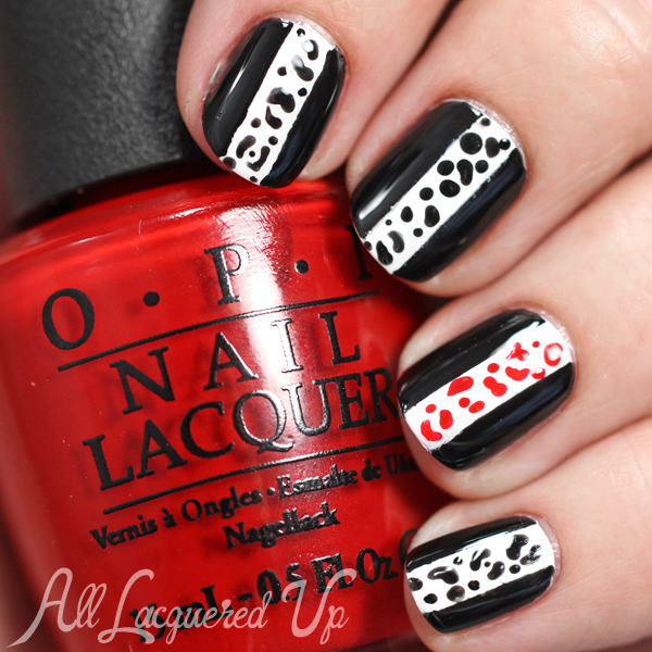 Black & White Nail Art via @alllacqueredup