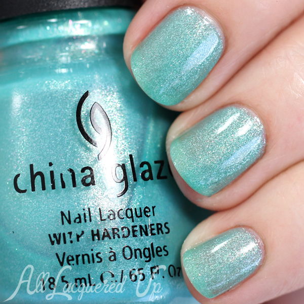 China Glaze Martini Pedicure swatch via @alllacqueredup
