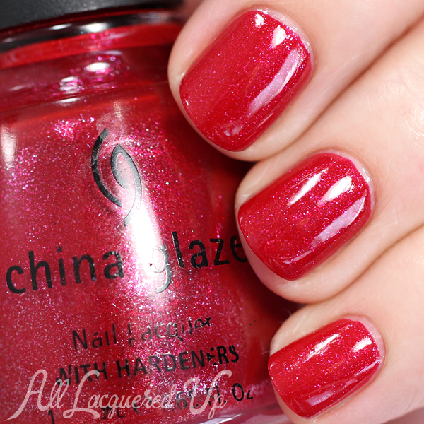China Glaze Wicked Step Sisters swatch via @alllacqueredup