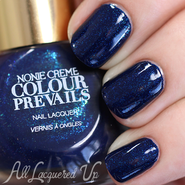 Colour Prevails Blue Blood swatch via @alllacqueredup