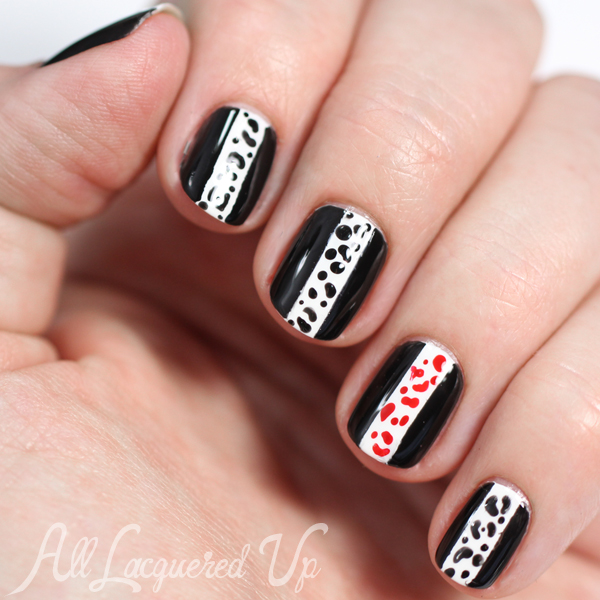 Graphic Nail Art Print via @alllacqueredup