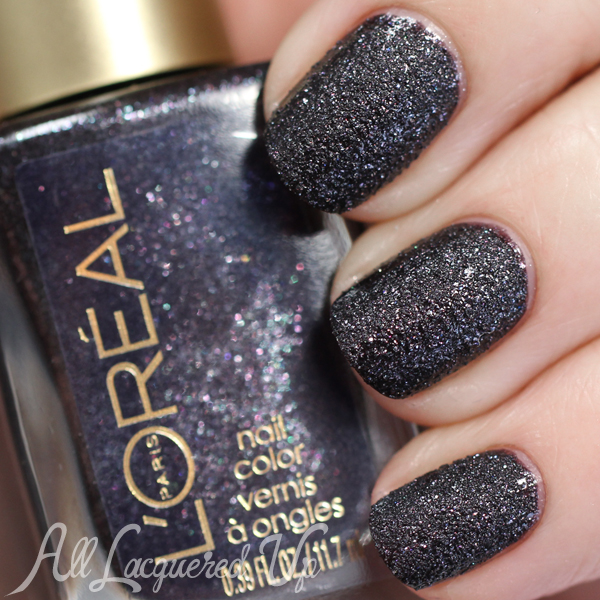 L'Oreal Bad Bad Grey swatch via @alllacqueredup