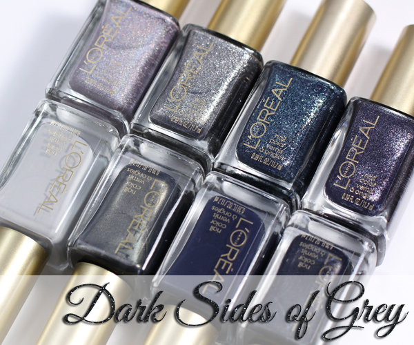 L'Oreal Dark Sides of Grey nail polish via @alllacqueredup