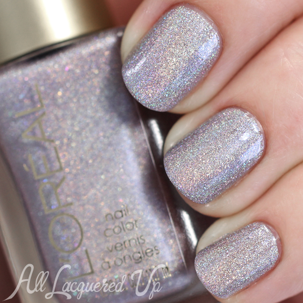 L'Oreal Masked Affair holographic swatch via @alllacqueredup