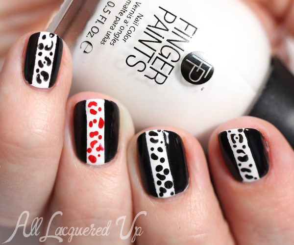 Spring 2015 nail trend black white nail art tutorial all spring 2015 nail art trend via alllacqueredup prinsesfo Image collections