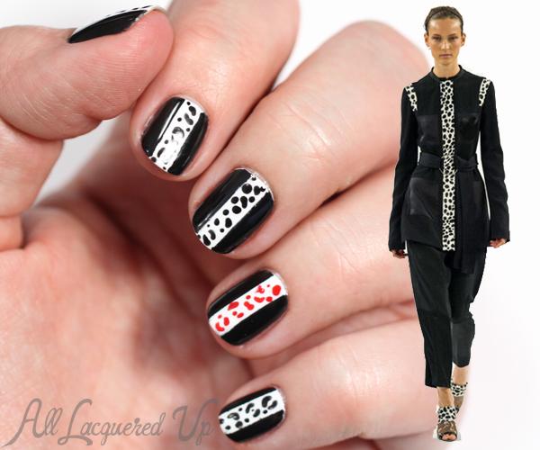 Spring 2015 Nail Trend - Black & White via @alllacqueredup