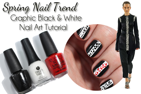 Spring 2015 Nail Trend – Graphic Black & White Nail Art Tutorial