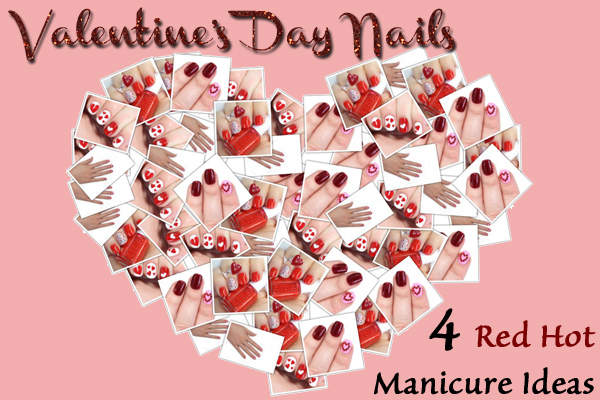 Valentine's Day Nail Art and Manicure Ideas via @alllacqueredup