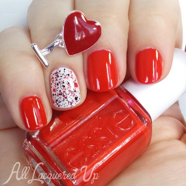 Valentine's Day Red Nails via @alllacqueredup