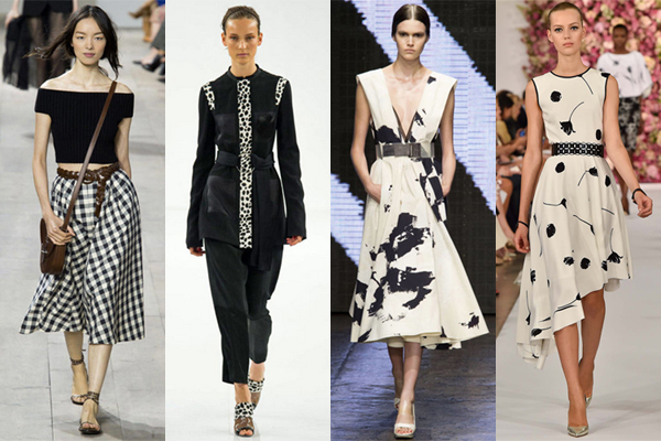 Spring 2015 Fashion Trend - Black & White Graphic Print via @alllacqueredup