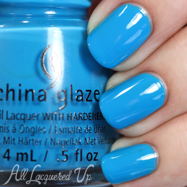 China Glaze DJ Blue My Mind - Summer 2015 via @alllacqueredup