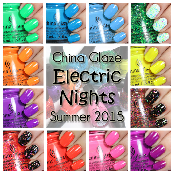 China Glaze Electric Nights for Summer 2015 via @alllacqueredup