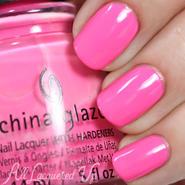 China Glaze Glow with the Flow - Electric Nights via @alllacqueredup