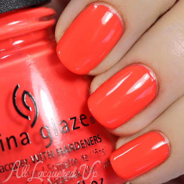China Glaze Red-y to Rave - Electric Nights via @alllacqueredup
