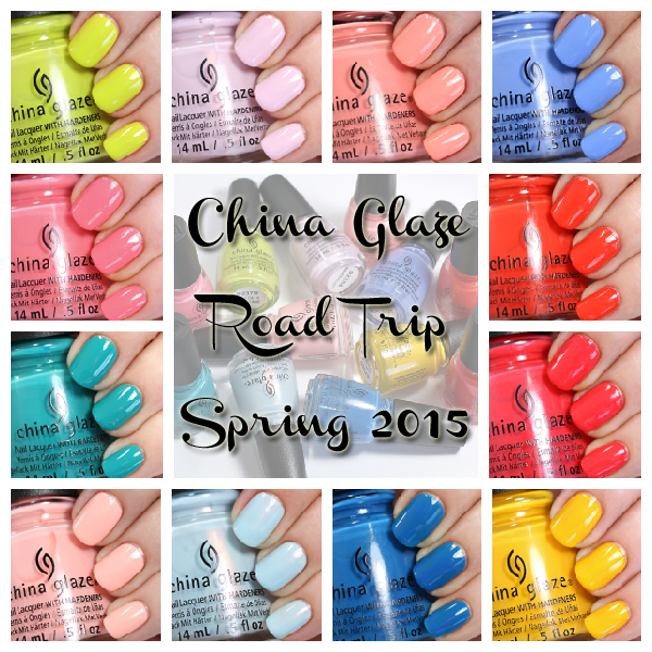 China Glaze Road Trip Spring 2015 swatches via @alllacqueredup