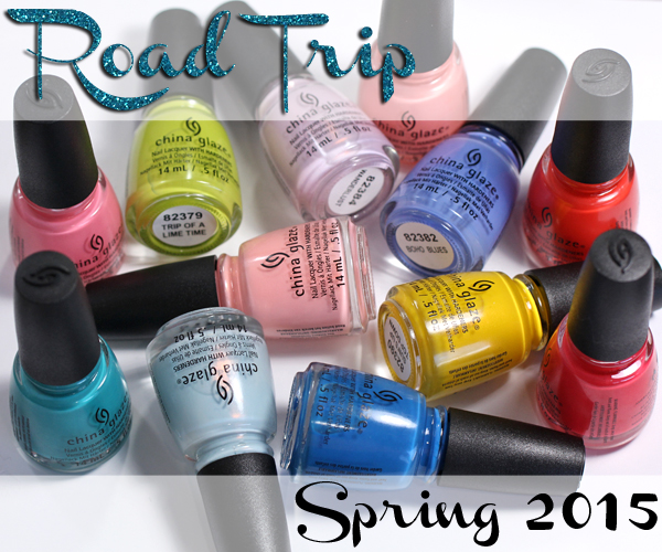 China Glaze Spring 2015 - Road Trip Review via @alllacqueredup
