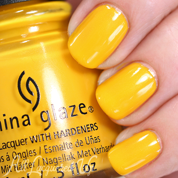 China Glaze Sun's Up Top Down Spring 2015 via @alllacqueredup