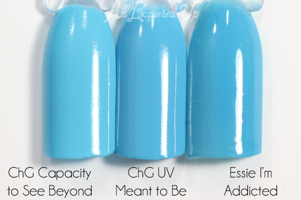 China Glaze UV Meant to Be comparison via @alllacqueredup