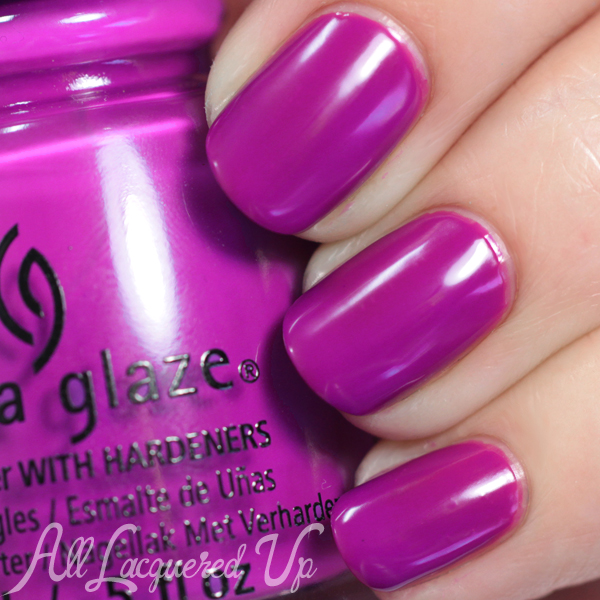 China Glaze Violet-Vibes - Electric Nights via @alllacqueredup