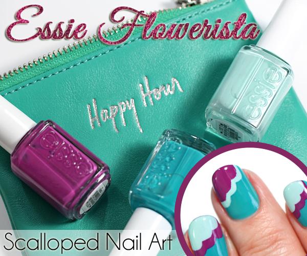 Essie Spring 2015 Nail Art via @alllacqueredup
