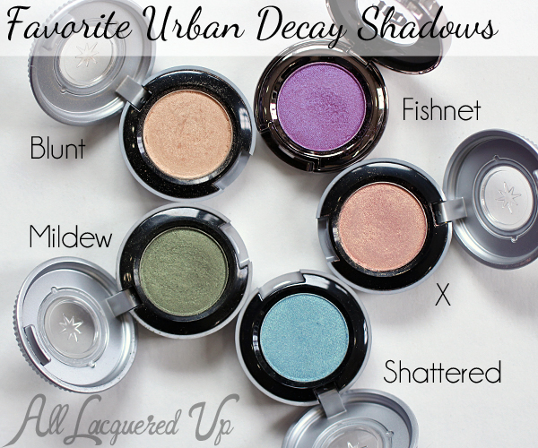 Favorite Urban Decay Shadows via @alllacqueredup