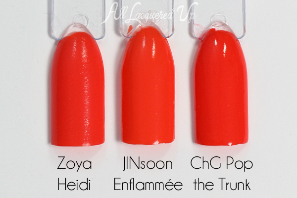 JINsoon Enflammée comparison via @alllacqueredup