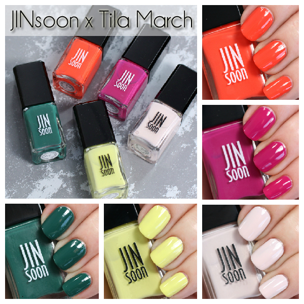 JINsoon X Tila March Spring 2015 swatches via @alllacqueredup