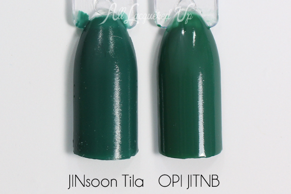 JINsoon Tila and OPI comparison via @alllacqueredup