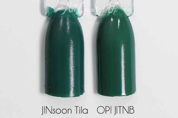 JINsoon Tila and OPI comparison via @alllacqueredup
