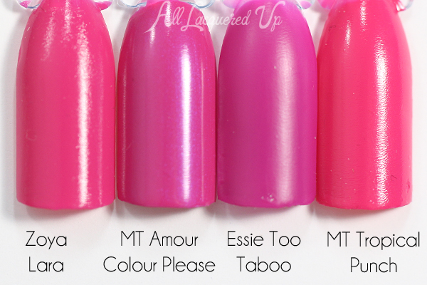 Morgan Taylor Amour Colour Please swatch comparison via @alllacqueredup
