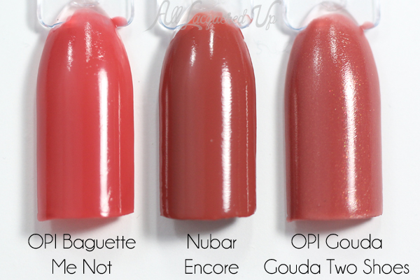 Nubar Encore swatch comparison via @alllacqueredup