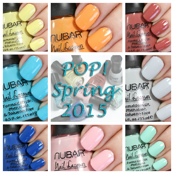 Nubar Pop! Spring 2015 swatches via @alllacqueredup