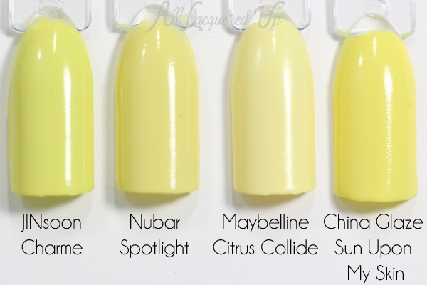 Nubar Spotlight swatch comparison via @alllacqueredup