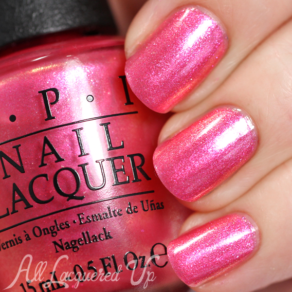 OPI Can't Hear Myself Pink swatch - Brights 2015 via @alllacqueredup