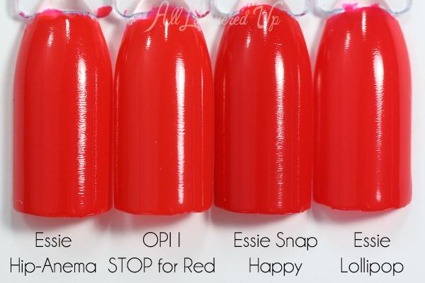 OPI I STOP for Red comparison via @alllacqueredup