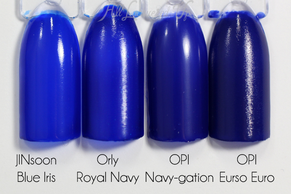OPI My Car Has Navy-gation comparison via @alllacqueredup
