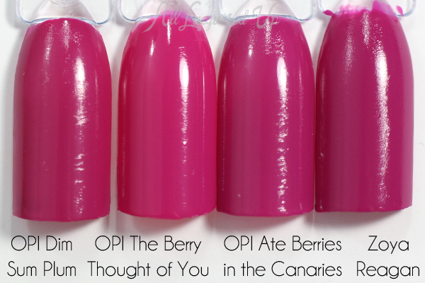 OPI The Berry Thought of You comparison via @alllacqueredup