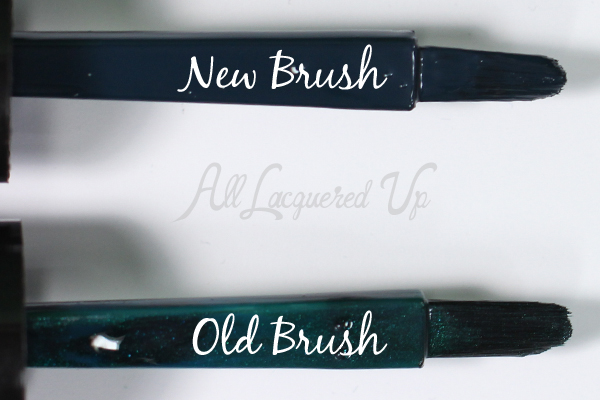 Sally Hansen Insta-Dri old vs new brush via @alllacqueredup