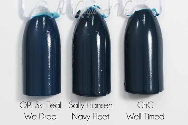 Sally Hansen Navy Fleet swatch comparison via @alllacqueredup