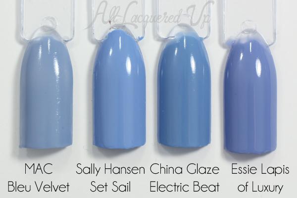 Sally Hansen Set Sail swatch comparison via @alllacqueredup