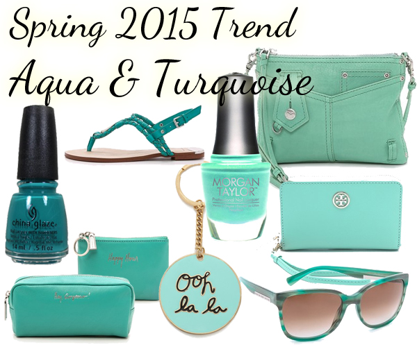 Spring 2015 Nail Color Trend - Aqua & Turquoise via @alllacqueredup