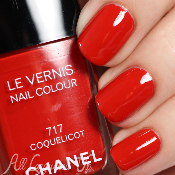 Chanel Coquelicot swatch - Chanel Summer 2015 Makeup via @alllacqueredup