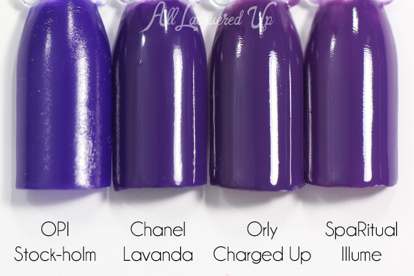 Chanel Lavanda swatch comparison - Chanel Summer 2015 Makeup via @alllacqueredup