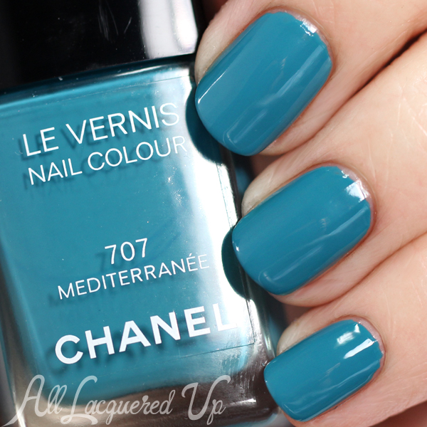 Chanel Mediterranee swatch - Chanel Summer 2015 Makeup via @alllacqueredup
