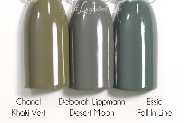 Deborah Lippmann Desert Moon swatch comparison - Summer 2015 via @alllacqueredup