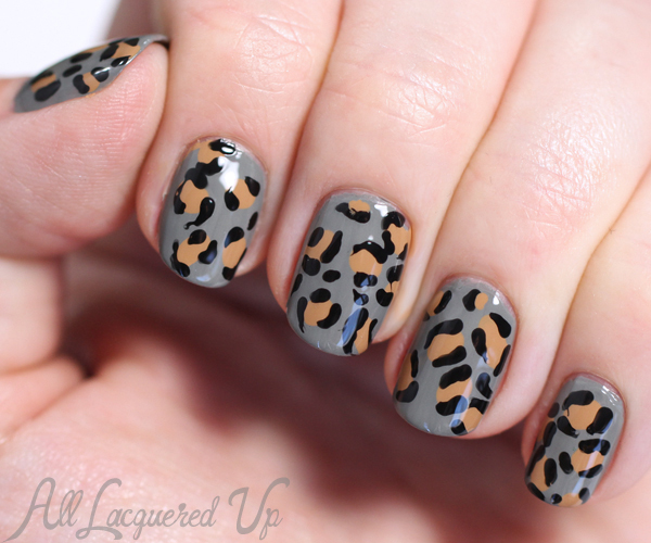 Leopard Nail Art via @alllacqueredup